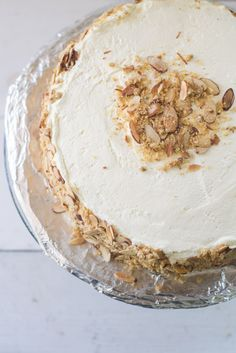 Burnt Almond Torte Cake via LittleFerraroKitchen.com