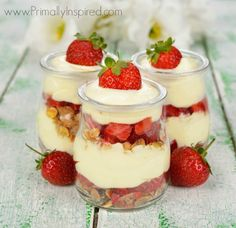 Paleo Lemon Pudding with Strawberries. Ingredients:     1 can of full-fat coconut milk (I use THIS)     1 lemon, zested and juiced,     ½ teaspoon pure vanilla extract,     2-3 tablespoons honey or sweetener of choice,     1 teaspoon gelatin,     3 egg yolks,     1 cup of strawberries, sliced.