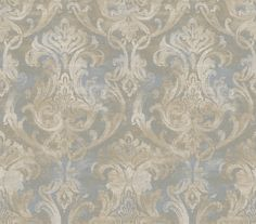 Product Description Artiste Elsa Ornate DamaskBlue Wallpaper ARS26034 - Elaborately-designed damask crowns in large scale pattern cast their powerful magnetism and old-aged elegance. A profile with a