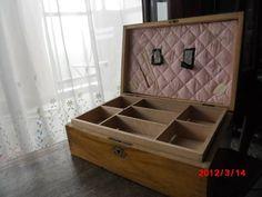 フランスアンティークウッドトレイ付ソーイングボックス裁縫箱 Antique sewing goods ¥12900yen 〆04月26日