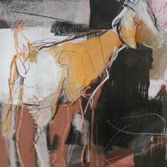 Dawn Emerson is a pastel and mixed media/printmaking artist who teaches workshops nationally and internationally. Paintings I Love, Animal Paintings, Art Kandinsky, Abstract Animals, Abstract Art, Abstract Styles, Figurative Kunst, Collage Art Mixed Media, Pastel Art