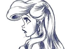 Ariel, the little mermaid drawing