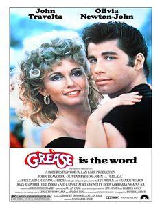"""Wand-Art Print - Vintage alte Movie Poster John Travolta, Olivia Newton-John """"Grease"""" 1978 Print 8 x 10"""" No.128"""