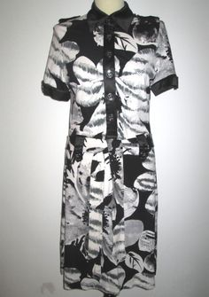* * * AIRFIELD Kandy-Kleid schwarz/weiß, Gr.40 * * * | eBay