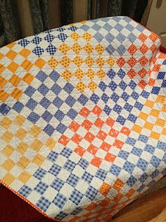 Checkered Patches --  Love this idea -- the mix of color possibilities is unlimited!