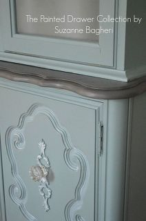vintage bassett china cabinet gets a new life, painted furniture, repurposing upcycling