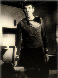I just love it when Spock shows his undershirt...