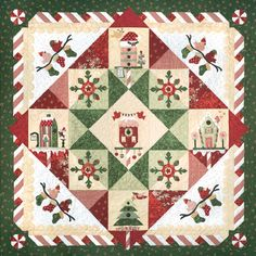 Peppermint Place quilt pattern set at The Quilt Company