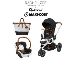 Rachel Zoe x Quinny x Maxi Cosi Special Edition Stroller Travel System with Diaper Bag