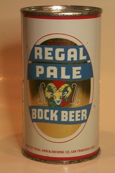 Regal Pale Bock Beer Beer History, Beer Can Collection, Old Beer Cans, Beer Mats, Beer 101, Beers Of The World, Beer Brands, Beer Labels, Soda Bottles