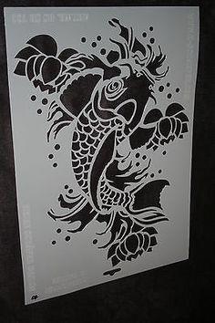 Schablone Heike Schäfer Nr. 10 groß Format A3 Fisch Koi