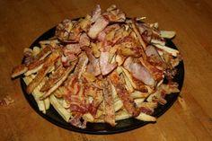 recept főétel húsétel melegétel krumpli sertés bacon sonka buli