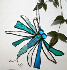 dragonfly stained glass, another good idea for scrap pieces of glass