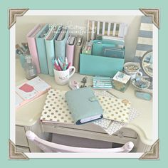 My beautiful mess... happy mail & a few planners hehehe @kikkik, kate spade, websters pages, teresa collins studio gold