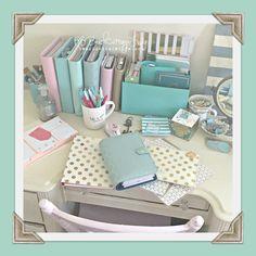 My beautiful mess... happy mail & a few planners hehehe @kikkik, @katespadeny , @websterspages , teresa collins studio gold