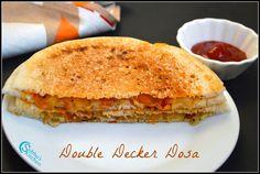 Double Decker Vegetable Dosa Recipe | Subbus Kitchen Healthy Vegetables, Healthy Foods, Healthy Eating, Healthy Recipes, Dosa Recipe, South Indian Food, Chefs, Indian Food Recipes, Cooking Recipes