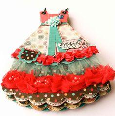 So cute! Paper 'dress' book