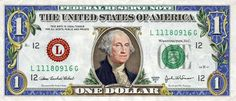 The Colorized One Dollar Bill