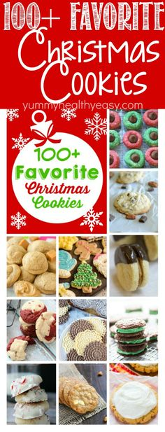100+ Favorite Christmas Cookies Recipes all in ONE place! There are all kinds of delicious cookie recipes for you to enjoy in this great cookie roundup!