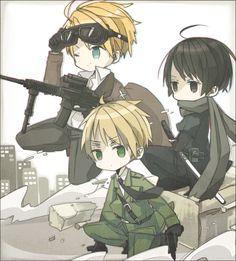 America, Japan, & England, Hetalia
