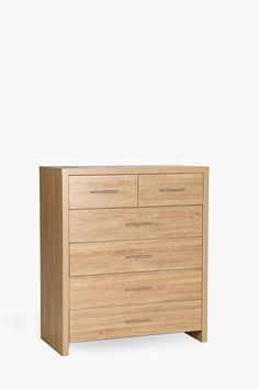 This 6 drawer unit is crafted from engineered board with a washed oak finish. Sleek lines and a strong structure make this drawer suitable for any bedroom. Large Furniture, New Furniture, Bedroom Furniture, 3 Drawer Chest, Drawer Unit, Professional Cleaning, Wood Surface, Oakley, Drawers
