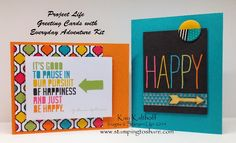 Project Life Everyday Adventure Greeting Cards with How To Video, Kay Kalthoff is Stamping to Share with Stampin' Up!, #PLxSU