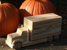 De madera de juguete combo 2 camión carro por MyFathersHandsLLC