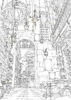 Background Drawing, Landscape Background, Animation Background, Environment Concept Art, Environment Design, Dark Art Illustrations, Illustration Art, Perspective Drawing Lessons, Sketchbook Inspiration