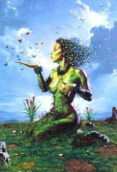 Gaia: Goddess of Earth and the philosophy that living organisms on a planet will affect the nature of their environment in order to make the environment more suitable for life.