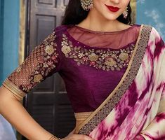 43 Latest Boat Neck Blouse Designs To Try in 43 Late. - 43 Latest Boat Neck Blouse Designs To Try in 43 Latest Boat Neck Blouse - Netted Blouse Designs, Kids Blouse Designs, Blouse Neck Designs, Blouse Patterns, Blouse Designs Catalogue, Boat Neck, Saree Blouse, Red Saree, Indian Wear