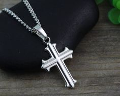 Hey, I found this really awesome Etsy listing at https://www.etsy.com/ca/listing/230413974/small-silver-cross-necklace-sterling