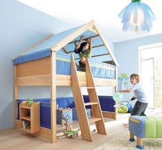 Lit cabane 90x200cm woody wood rangement pinterest for Lit woody wood