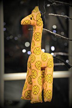 Kitenge Giraffe Ornament