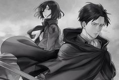 Levi and Mikasa by Sine Eang (SNK)