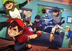 The trouble maker Boboiboy Galaxy, Anime Galaxy, Boboiboy Anime, Anime Art, Elemental Powers, Short Comics, Asuna, Life Pictures, Kawaii Drawings