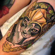 Warrior Lynx by @monikabooo at True Tattoo LT in Vilnius Lithuania. #cat #lynx #warrior #warriorlynx #monikabooo #truetattoolt #vilnius #lithuania #tattoo #tattoos #tattoosnob