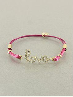 Love Ribbon Bracelet