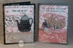 *{CraftChaos}*: Coffee tags and paper lace #cards #clubscrap #coffee by Hetty Sanders