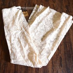 NIGHTCAP Lace Pants Bell Bottoms Festival Flares Size XS.  New with tags.  $198 Retail + Tax.   Lace ivory pants. These beauties create an airy bed of flowers across your lower half.  Stretchy flared legs lined with shorts.    Nylon, spandex, Lycra, viscose.  Made in the USA.     ❗️ Please - no trades, PP, holds, or Modeling.    Bundle 2+ items for a 20% discount!    Stop by my closet for even more items from this brand!  ✔️ Items are priced to sell, however reasonable offers will be…
