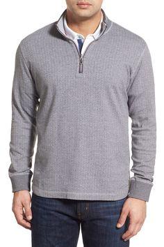 Reversible Quarter Zip Knit Pullover