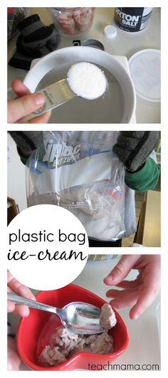 easy, homemade plastic bag ice-cream | free printable kid-friendly recipe