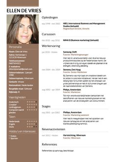CV voorbeeld Direction, Curriculum, Marketing, Resume, Teaching Plan