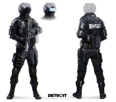 View an image titled 'S. Art' in our Detroit: Become Human art gallery featuring official character designs, concept art, and promo pictures. Star Citizen, Cyberpunk Rpg, Get A Girlfriend, Futuristic Armour, Future Soldier, Game Character Design, Character Art, Call Of Duty Black, Sci Fi Characters