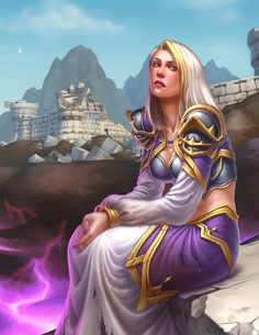 The Fall of Theramore - Lady Jaina Proudmoore World Of Warcraft, Warcraft Art, High Fantasy, Fantasy Girl, Medieval Fantasy, Fantasy Characters, Female Characters, Blizzard Warcraft, Jaina Proudmoore