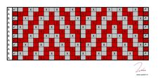 Easy Crochet Blanket, Crochet Blanket Patterns, Cross Stitch Patterns, Chevron Patterns, Mosaic Patterns, Crochet Chart, Crochet Stitches, Knitting Charts, Knitting Patterns