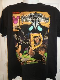 "Disney:  Kingdom Hearts ""Exciting Brand New Adventures T-Shirt Size X-Large"