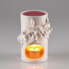 Beautiful Porcelain Oil Burner - Flower