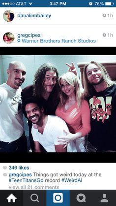 Scott Menville, Khary Payton, Tara Strong, Weird Al, Greg Cipes. #FondleFriday