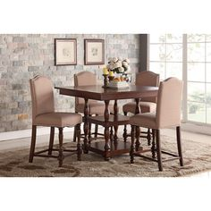Weston Home Ohana Counter Height Dining Table With Leaf  1393W36 Fair Counter Height Dining Room Review