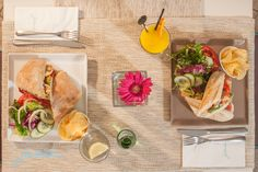 Fresh, healthy lunch—Mediterranean style.